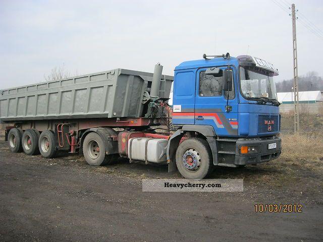 1996 MAN  19 403 Semi-trailer truck Standard tractor/trailer unit photo