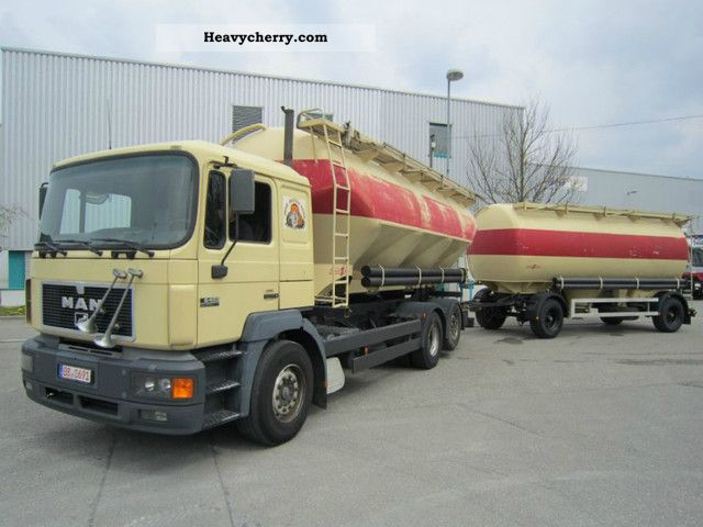 1996 MAN  26.403 6x2 Spitzer silo 28m 31m ³ ³ + Anh Spitzer Truck over 7.5t Food Carrier photo