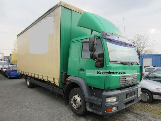 2003 MAN  LE 12 280 EDSCHA-VER DECK SLIDING PLANE Truck over 7.5t Stake body and tarpaulin photo