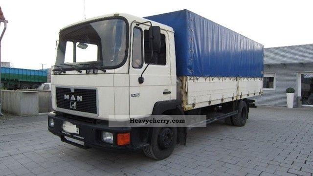 1990 MAN  14 192 Truck over 7.5t Stake body and tarpaulin photo