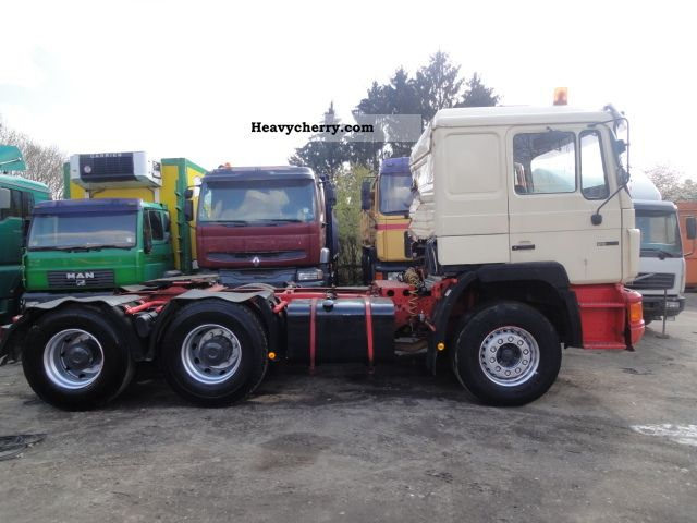 1992 MAN  25 422 6x4 Air, Retarder, Manual Semi-trailer truck Standard tractor/trailer unit photo