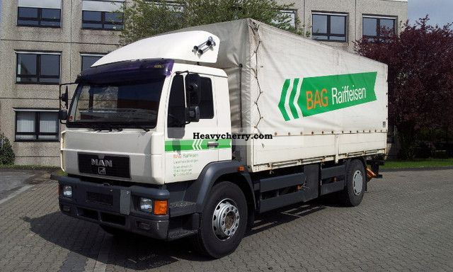 2000 MAN  Type 18 280 L88 P / S LBW 1.5 t * Air Suspension * AHK Truck over 7.5t Stake body and tarpaulin photo
