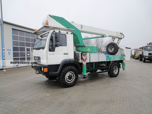 2006 MAN  10 180 4x4 access platform Bison TKA 26/26 m Truck over 7.5t Hydraulic work platform photo