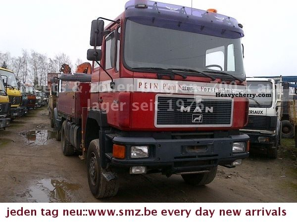 1992 MAN  19-422 4X4 ATLAS 100.1 Truck over 7.5t Stake body photo