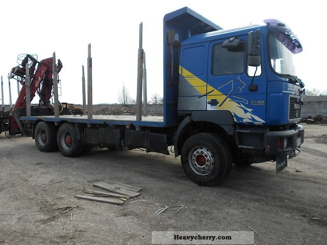1998 MAN  27-463 6x4 Truck over 7.5t Timber carrier photo