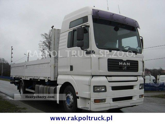 2003 MAN  TGA 18.410 BDF skrzyniowy Truck over 7.5t Stake body photo