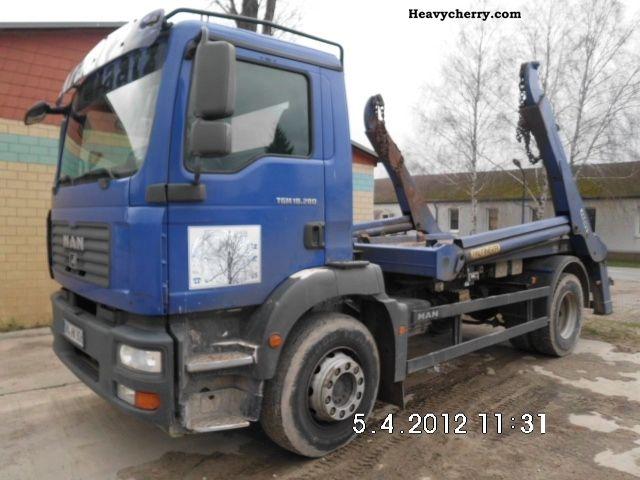 2007 MAN  TGM 18 280 telescope with Palfinger Structure-€ 4 Truck over 7.5t Dumper truck photo