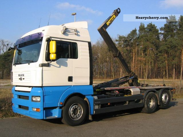 2007 MAN  TGA 26.440 XLX 6x2 EURO5 intarder manual Truck over 7.5t Roll-off tipper photo