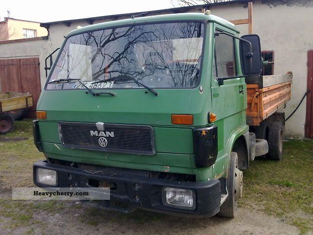 1992 MAN  8150 WYWROTKA Kiper 3 strony Truck over 7.5t Tipper photo
