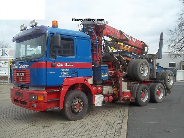 2001 MAN  Long Wood 26 4800 Truck over 7.5t Timber carrier photo
