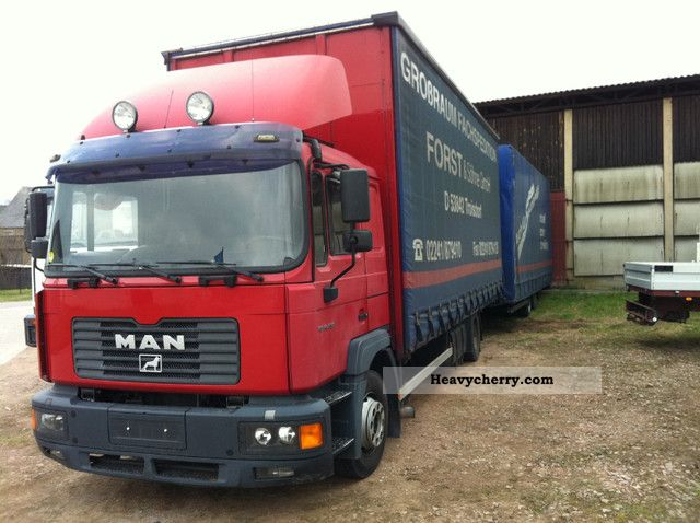 2003 MAN  M33 with tandem trailer jumbo Truck over 7.5t Stake body and tarpaulin photo