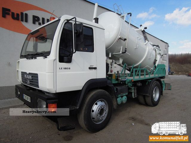 2003 MAN  LE 180B vacuum and sewer cleaning vehicle Truck over 7.5t Vacuum and pressure vehicle photo