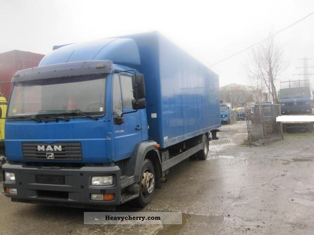 2003 MAN  LE 12.280, Case + LBW Truck over 7.5t Box photo