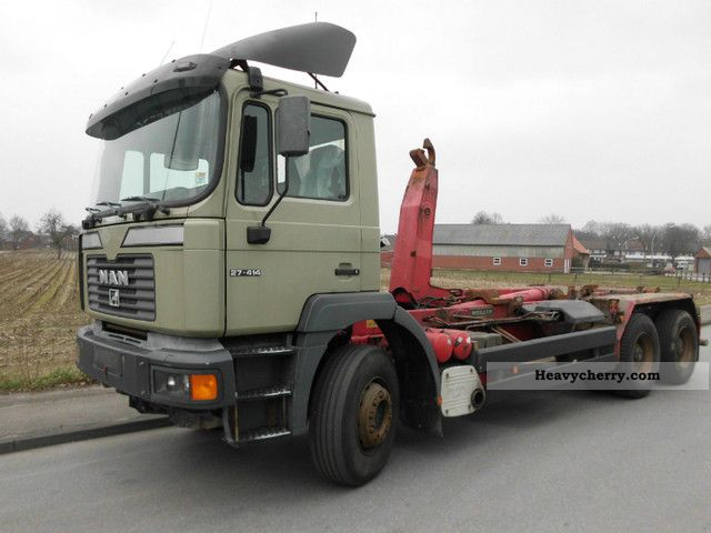 2000 MAN  27 414 leaf blade fixed-price!! Truck over 7.5t Roll-off tipper photo