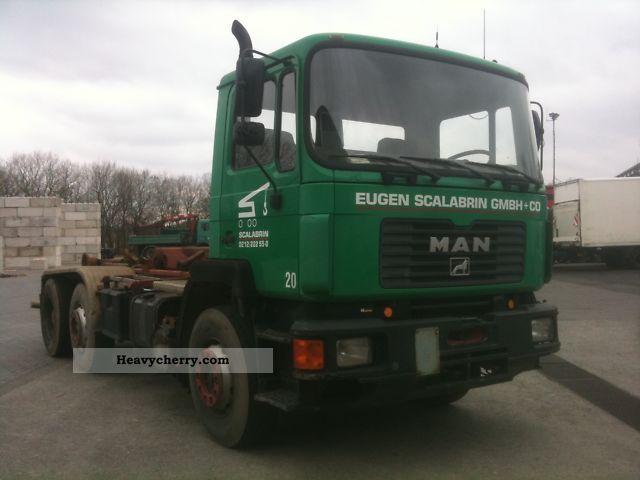 1992 MAN  26 272 Truck over 7.5t Roll-off tipper photo