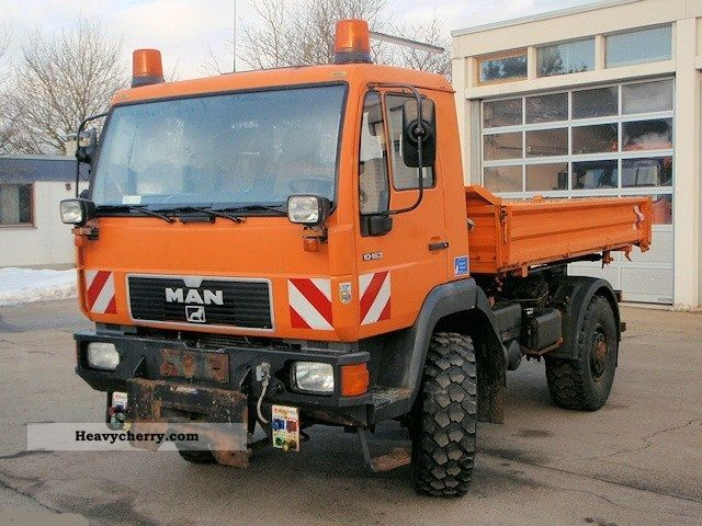 1995 MAN  10 163 AK 4x4 Kommunalhydr winter. Truck over 7.5t Three-sided Tipper photo