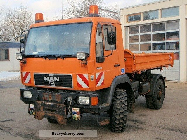 1995 MAN  10 163 AK 4x4 Kommunalhydr winter. Truck over 7.5t Tipper photo