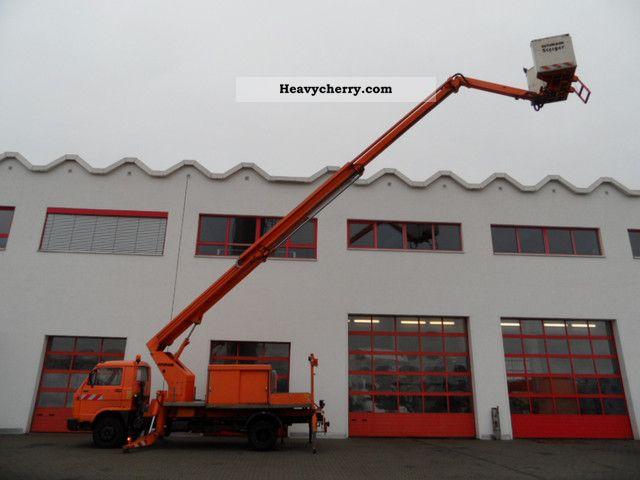 1988 MAN  9150 aerial platform Ruthmann Steiger Truck over 7.5t Hydraulic work platform photo