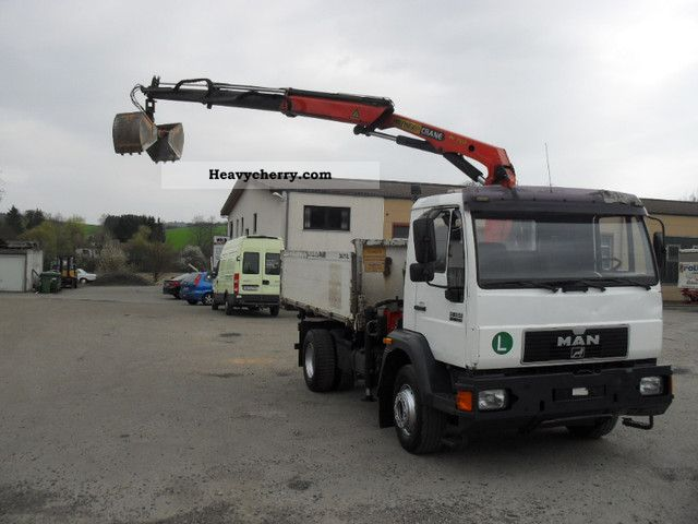 1998 MAN  15 264 tipper crane with gripper 3.Jahre old Truck over 7.5t Three-sided Tipper photo
