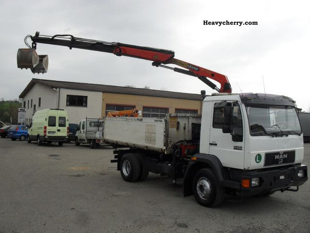 1998 MAN  15 264 tipper crane with gripper 3.Jahre old Truck over 7.5t Tipper photo