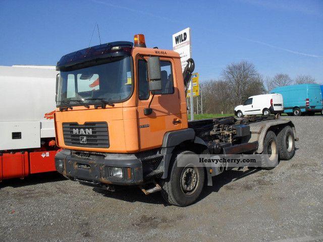 2001 MAN  27 464 26 464 6x4 6x4 od Truck over 7.5t Roll-off tipper photo