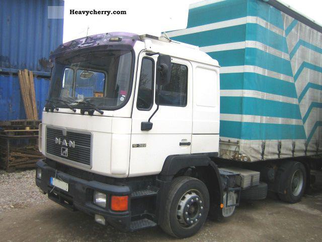 1992 MAN  19,322 TOP condition 2 Berth F02 19 322 19-322 Semi-trailer truck Standard tractor/trailer unit photo