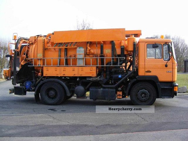 1992 MAN  19 322 Hellmers combined water recovery Truck over 7.5t Vacuum and pressure vehicle photo