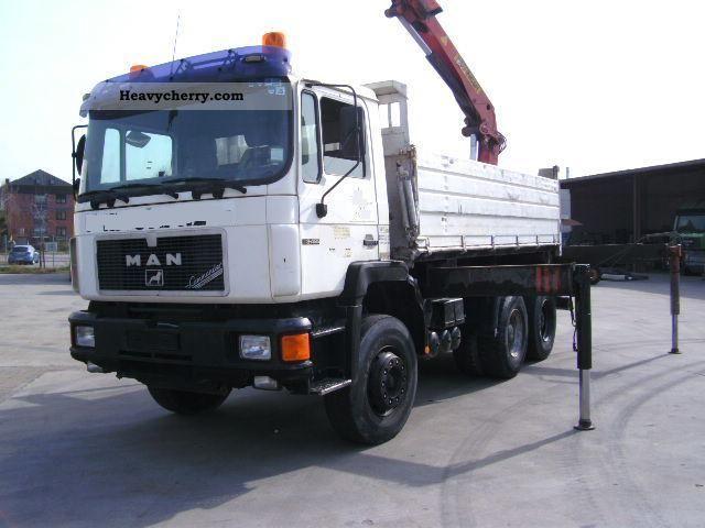 1992 MAN  33 422/26 422 m. Crane Truck over 7.5t Tipper photo