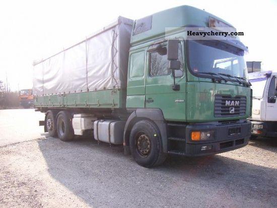 2000 MAN  F2001 26 464 L 6X2 GRAIN TRUCK M. COMPRESSOR Truck over 7.5t Tipper photo