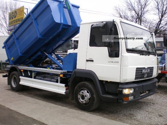 2005 MAN  12 185 STAR Hakowiec Truck over 7.5t Roll-off tipper photo