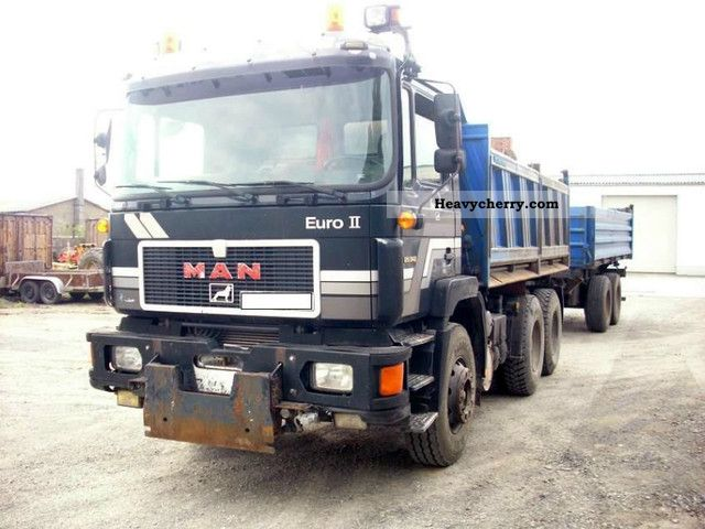 1995 MAN  26 342 with trailer Truck over 7.5t Tipper photo
