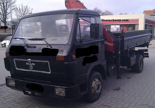 1992 MAN  VW 10 150 3SeitenKipper crane Truck over 7.5t Tipper photo