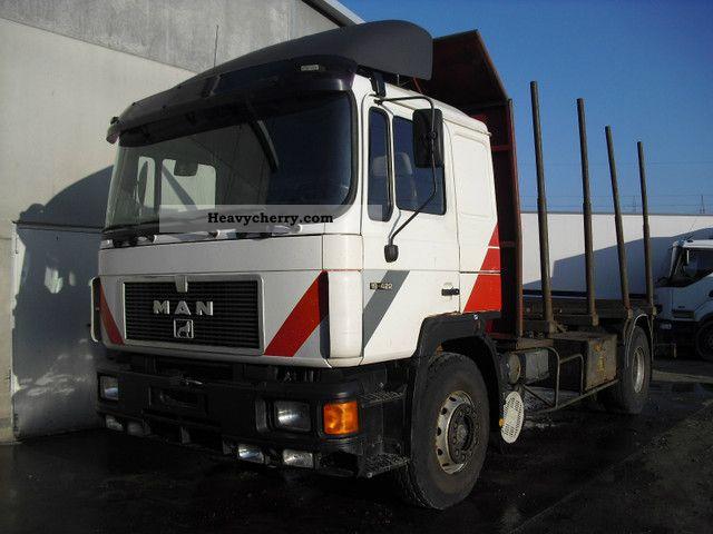 1994 MAN  19 422 Retarder, Webasto AHK 2 bed Truck over 7.5t Timber carrier photo
