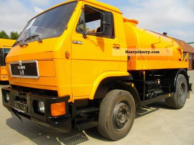 1992 MAN  17 192 4x2 Truck over 7.5t Vacuum and pressure vehicle photo