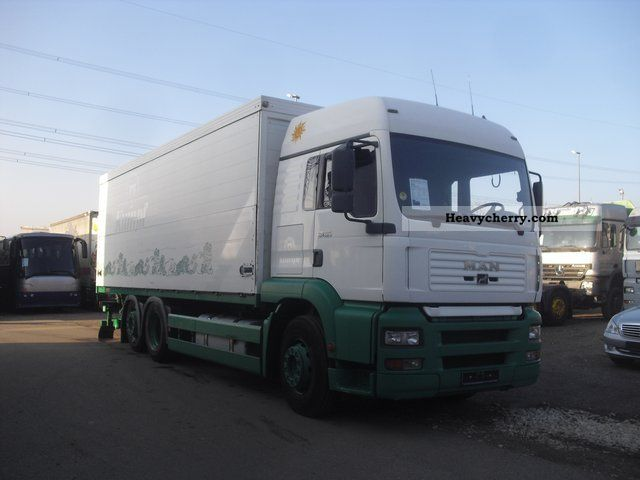 2002 MAN  26 460 TGA swing wall body / LBW steering axle Truck over 7.5t Beverage photo