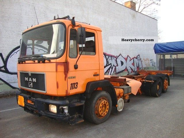 1992 MAN  25 272 6x2 chassis BDF Wechselfahrgestell Truck over 7.5t Swap chassis photo
