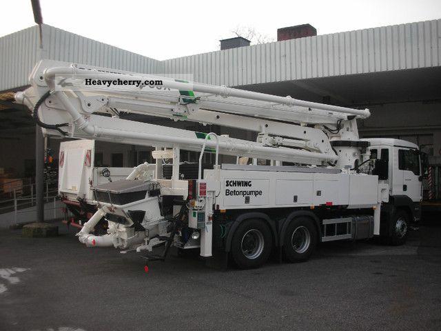 Man Tgs 26 360 6x4 Schwing Concrete Pump S 36x 5 2011