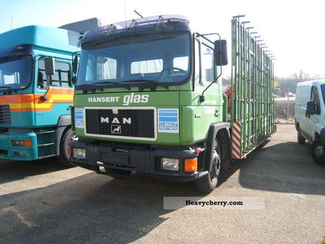 1989 MAN  Transportation Palfinger loading crane 14 232 glass Truck over 7.5t Other trucks over 7 photo