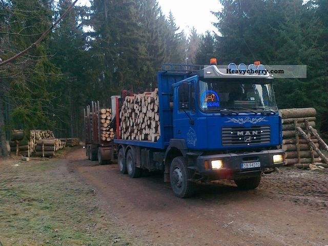 2000 MAN  One 6x6 Thurs drewna Truck over 7.5t Timber carrier photo