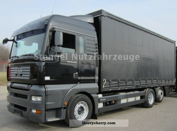 2007 MAN  TGA 26.440 6x2 EURO4 Tautliner + LBW LASI 12642 XL Truck over 7.5t Beverage photo