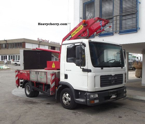 2005 MAN  8180 BISON ex TGL 28 meters Van or truck up to 7.5t Truck-mounted crane photo