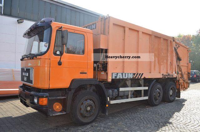 1992 MAN  25 272 garbage trucks * FAUN Variopress * Truck over 7.5t Refuse truck photo
