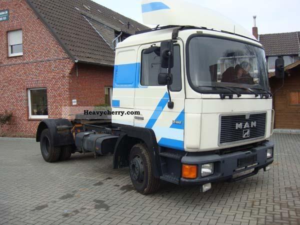 1990 MAN  12 192 Semi-trailer truck Standard tractor/trailer unit photo