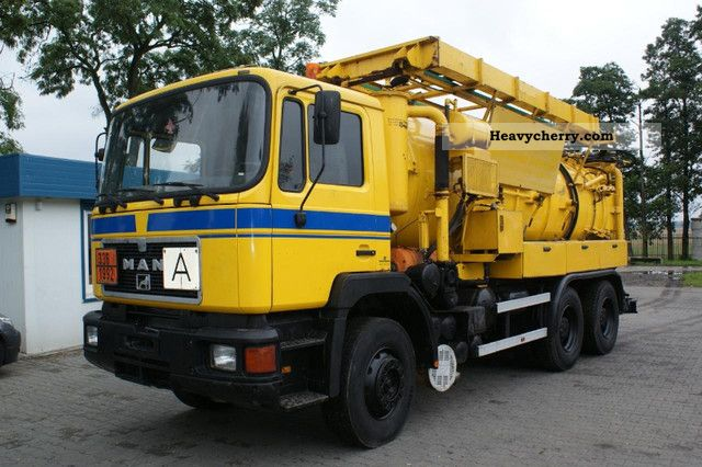 1991 MAN  26 302 6x4 Truck over 7.5t Vacuum and pressure vehicle photo