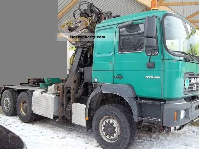 2003 MAN  26/27.460 6x6 m. Crane / Loglift 265 Semi-trailer truck Heavy load photo