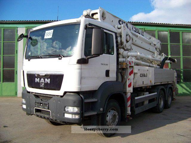 Man Tgs 33 360 Bb 6x4 Cifa K 35 L Xz Concrete Pump