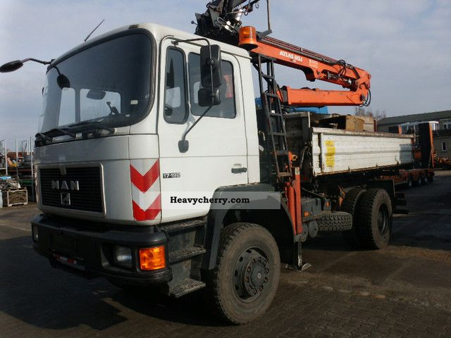 1992 MAN  M08 - 17 192 with crane - Authorities vehicle! Truck over 7.5t Tipper photo