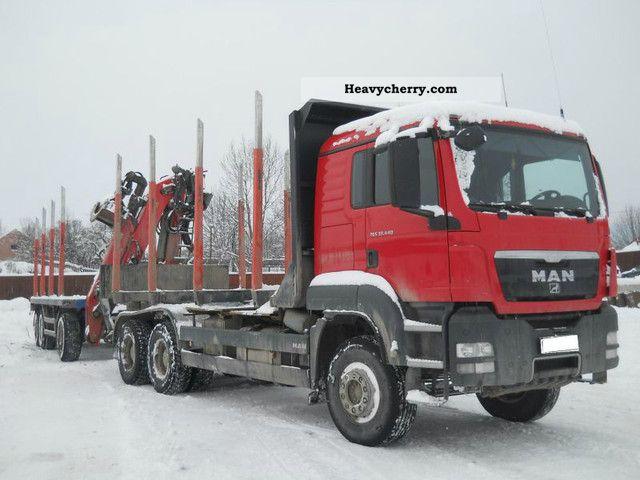 2011 MAN  TGS 33 440 € 5 6x4 platf. Kon. including crane Truck over 7.5t Timber carrier photo