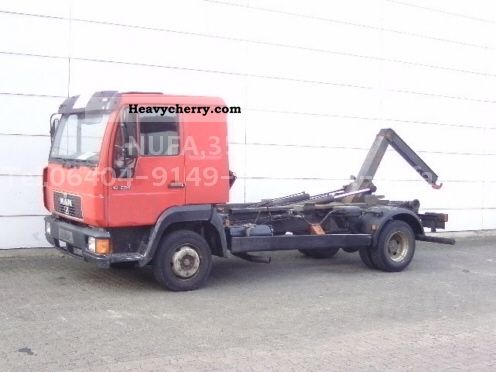 1996 MAN  10 224 / 4x2 Van or truck up to 7.5t Roll-off tipper photo