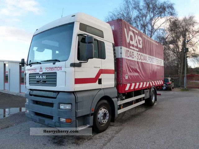 2003 MAN  TGA 18.410 XXL mechanics / AHK / Air Truck over 7.5t Stake body and tarpaulin photo